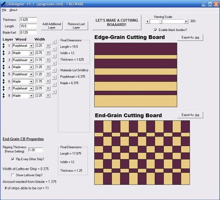 Cutting Board Plan designer